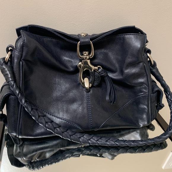 Francesco Biasia Navy Leather Bag